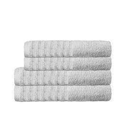 CelinaTex Handtuchset Baumwolle Frottee Pisa silbergrau 2x 70x140 + 2x 80x200
