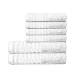 CelinaTex Handtuchset Baumwolle Frottee Pisa weiß 4x 50x100 + 2x 70x140