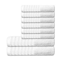 CelinaTex Handtuchset Baumwolle Frottee Pisa weiß 6x 50x100 + 2x 70x140