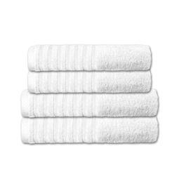 CelinaTex Handtuchset Baumwolle Frottee Pisa weiß 2x 70x140 + 2x 80x200