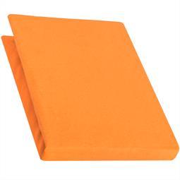 Spannbettlaken Baumwolle Jersey 90x200-100x220 Pur orange