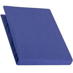 Spannbettlaken Baumwolle Jersey 90x200-100x220 Pur royal blau