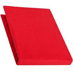 Spannbettlaken Baumwolle Jersey 90x200-100x220 Pur rubin rot