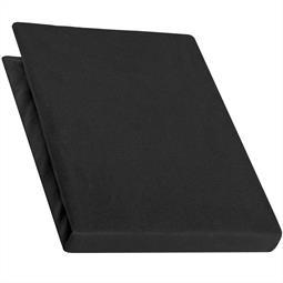Spannbettlaken Baumwolle Jersey 90x200-100x220 Pur schwarz