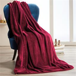 Kuscheldecke Coral-Fleece Quebec 150x200 cm bordeaux
