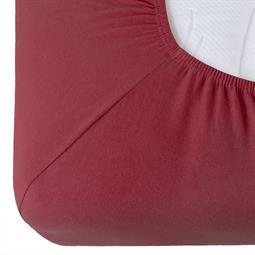 Spannbettlaken Baumwolle Relax bordeaux rot 90x200 - 100x220