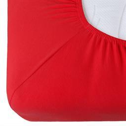 Spannbettlaken Baumwolle Relax rot 90x200 - 100x220