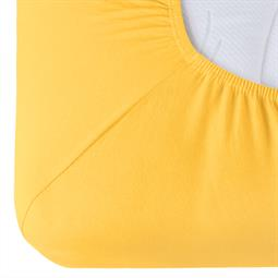 Spannbettlaken Baumwolle Relax zitronen gelb 90x200 - 100x220