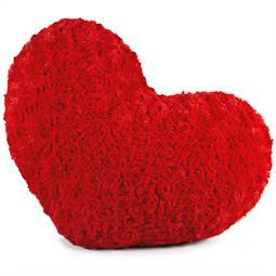 Dekokissen Plüsch Rose 40x25 Herz rot