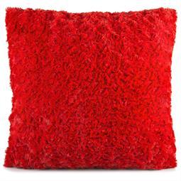 Dekokissen Plüsch Rose 45x45 rot