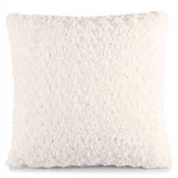 Dekokissen Plüsch Rose 45x45 weiß