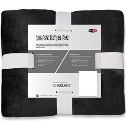 Kuscheldecke Cashmere Touch 150 x 200 cm schwarz Salsa
