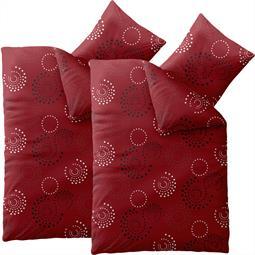 Bettwäsche Garnitur Microfaser Smart Mariella rot Doppelpack 155x220