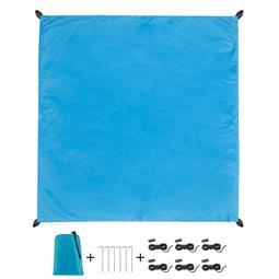 CelinaSun Sonnensegel PES UPF 50+ outdoor ultraleicht Tragebeutel Quadrat 2x2 blau