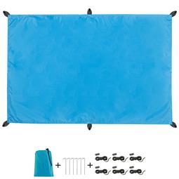 CelinaSun Sonnensegel PES UPF 50+ outdoor ultraleicht Tragebeutel Rechteck 2x3 blau