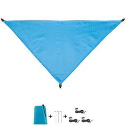 CelinaSun Sonnensegel PES UPF 50+ outdoor ultraleicht Tragebeutel Dreieck 3x3x4,25 blau