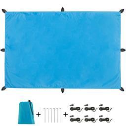 CelinaSun Sonnensegel PES UPF 50+ outdoor ultraleicht Tragebeutel Rechteck 3x4 blau