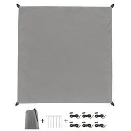 CelinaSun Sonnensegel PES UPF 50+ outdoor ultraleicht Tragebeutel Quadrat 2x2 grau