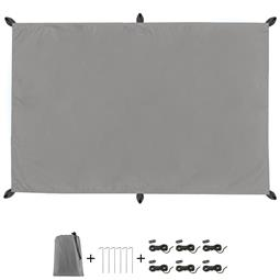 CelinaSun Sonnensegel PES UPF 50+ outdoor ultraleicht Tragebeutel Rechteck 2x3 grau