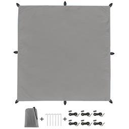 CelinaSun Sonnensegel PES UPF 50+ outdoor ultraleicht Tragebeutel Quadrat 3x3 grau