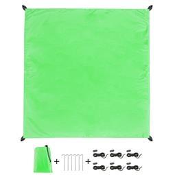CelinaSun Sonnensegel PES UPF 50+ outdoor ultraleicht Tragebeutel Quadrat 2x2 grün