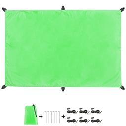 CelinaSun Sonnensegel PES UPF 50+ outdoor ultraleicht Tragebeutel Rechteck 2x3 grün