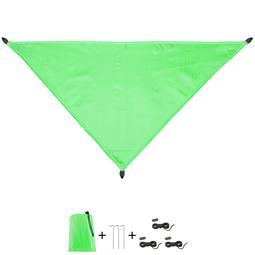 CelinaSun Sonnensegel PES UPF 50+ outdoor ultraleicht Tragebeutel Dreieck 3x3x4,25 grün