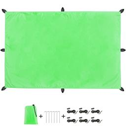 CelinaSun Sonnensegel PES UPF 50+ outdoor ultraleicht Tragebeutel Rechteck 3x4 grün