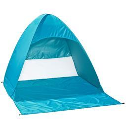 CelinaSun Strandzelt PES UPF 50+ UV Schutz Pop Up Wurfzelt 200x170x140 4 Personen blau