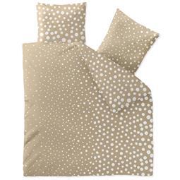 Bettwäsche Microfaser Fleece 200x200 Style Tea beige weiß