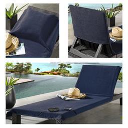 CelinaTex Strandhandtuch Frottee Reißverschluss Tasche Sunly 80x200 blau