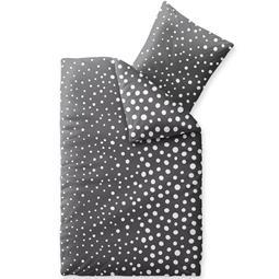 Bettwäsche Winter 155x220 Baumwolle Biber Touchme Tessa  schwarz weiß
