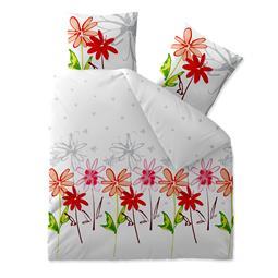 aqua-textil Bettwäsche Garnitur Baumwolle Trend 200x200 Ayana weiß grau
