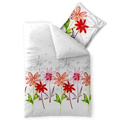 Bettwäsche Garnitur Baumwolle Trend 135x200 Ayana weiß grau