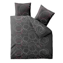 aqua-textil Bettwäsche Garnitur Baumwolle Trend 200x200 Cariba anthrazit grau