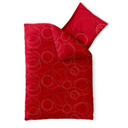 Bettwäsche Garnitur Baumwolle Trend 135x200 Chara rot grau