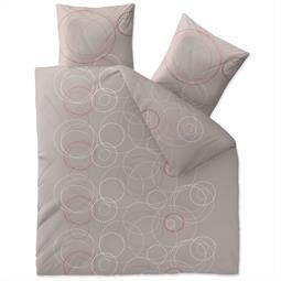 Bettwäsche Garnitur Baumwolle Trend 200x220 Cora grau dunkelgrau weiß