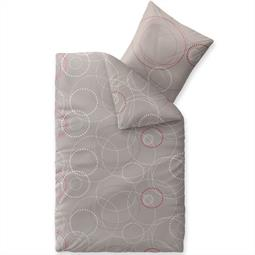 Bettwäsche Garnitur Baumwolle Trend 135x200 Cora grau dunkelgrau weiß