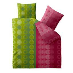 aqua-textil Bettwäsche Garnitur Baumwolle Trend 200x200 Dafina grün pink