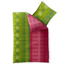 Bettwäsche Garnitur Baumwolle Trend 135x200 Dafina grün pink