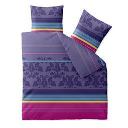 aqua-textil Bettwäsche Garnitur Baumwolle Trend 200x200 Daria lila türkis pink