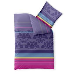 aqua-textil Bettwäsche Garnitur Baumwolle Trend 155x220 Daria lila türkis pink