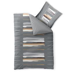 aqua-textil Bettwäsche Garnitur Baumwolle Trend 135x200 Hanaa grau beige