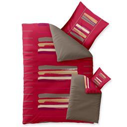 aqua-textil Bettwäsche Garnitur Baumwolle Trend 135x200 Helina rot braun