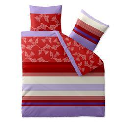 Bettwäsche Garnitur Baumwolle Trend 200x200 Imara Rot Lavendel Www
