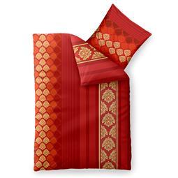 aqua-textil Bettwäsche Garnitur Baumwolle Trend 135x200 Nadia rot orange