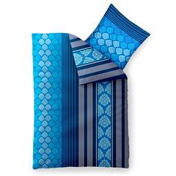 aqua-textil Bettwäsche Garnitur Baumwolle Trend 155x220 Nala blau weiß