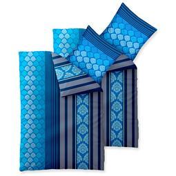 aqua-textil Bettwäsche Garnitur Baumwolle Trend 4 teilig 155x220 Nala blau weiss