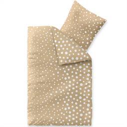 Bettwäsche Garnitur Baumwolle Trend 135x200 Tabea sandbeige weiß
