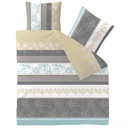 aqua-textil Bettwäsche Garnitur Baumwolle Trend 200x200 Vanesa weiß grau
